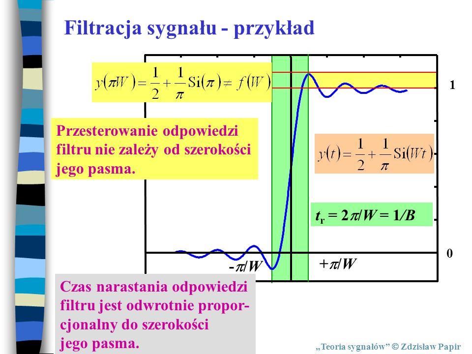 Filtracja sygnału - przykład