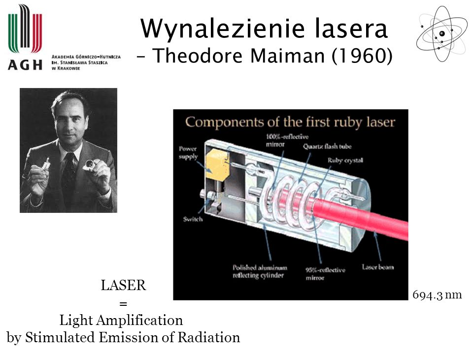Wynalezienie lasera – Theodore Maiman (1960)