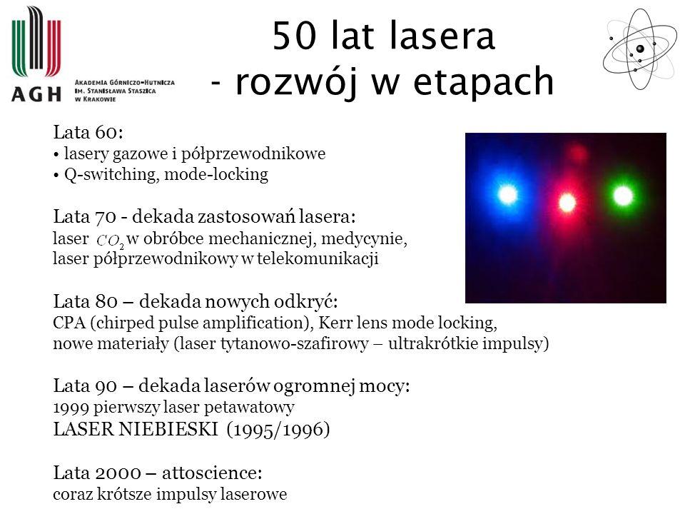 50 lat lasera - rozwój w etapach
