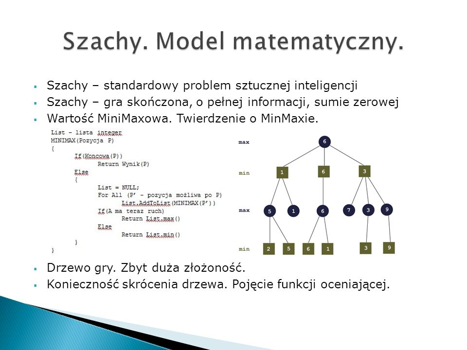 Szachy. Model matematyczny.