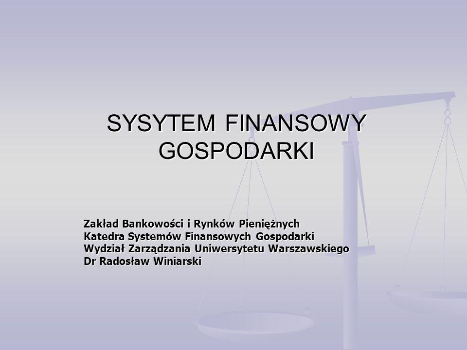 SYSYTEM FINANSOWY GOSPODARKI
