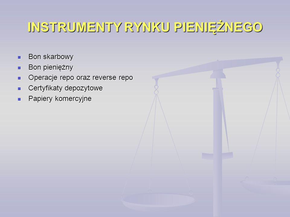 INSTRUMENTY RYNKU PIENIĘŻNEGO