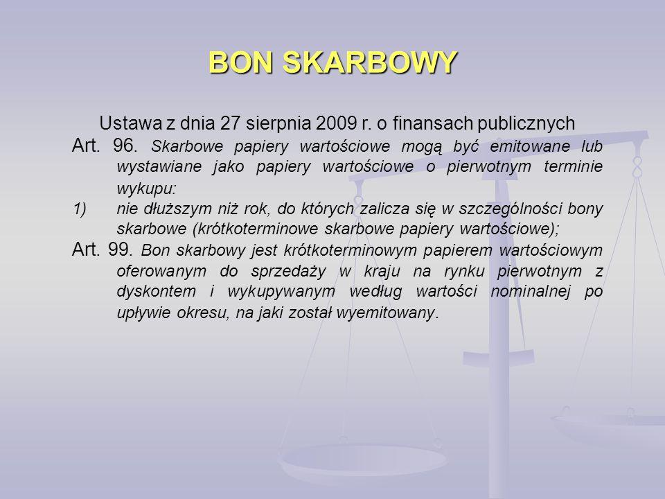 Ustawa z dnia 27 sierpnia 2009 r. o finansach publicznych
