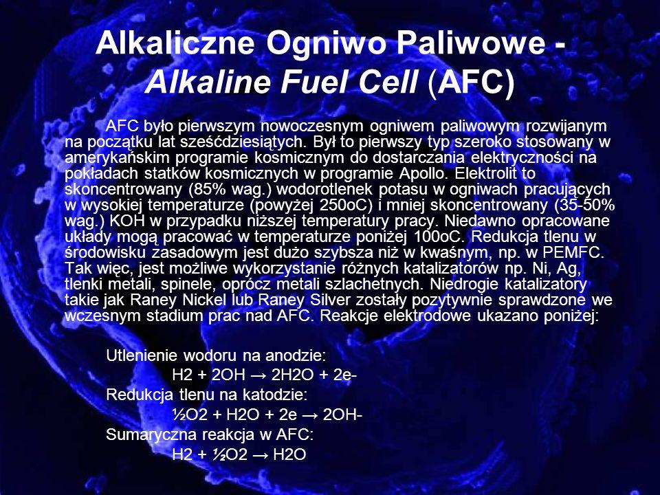 Alkaliczne Ogniwo Paliwowe - Alkaline Fuel Cell (AFC)