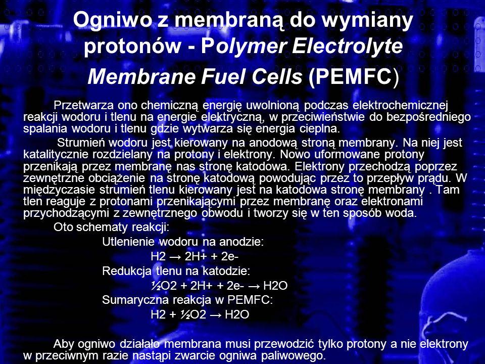 Ogniwo z membraną do wymiany protonów - Polymer Electrolyte Membrane Fuel Cells (PEMFC)