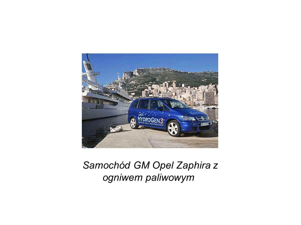 Samochód GM Opel Zaphira z ogniwem paliwowym