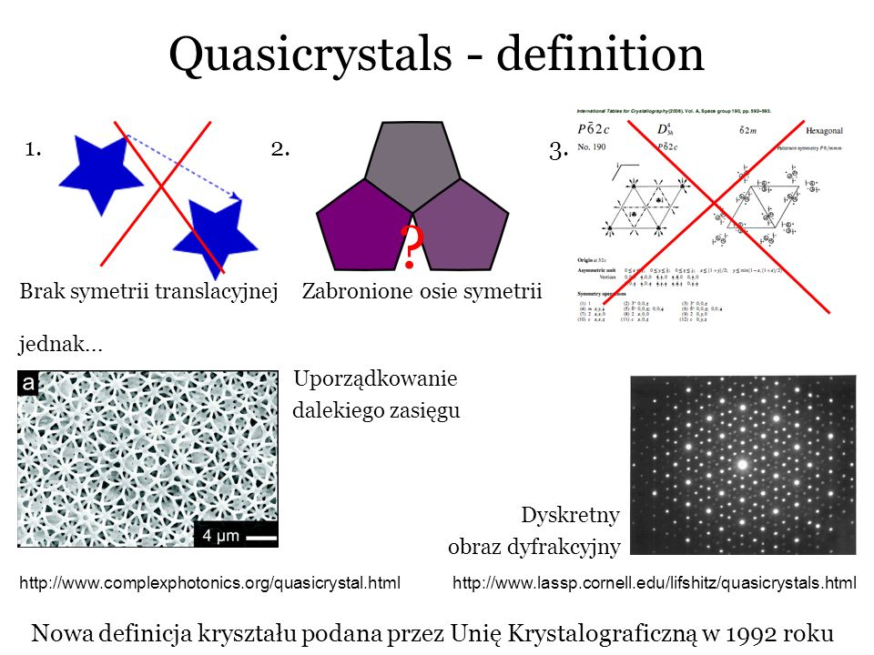 Quasicrystals - definition