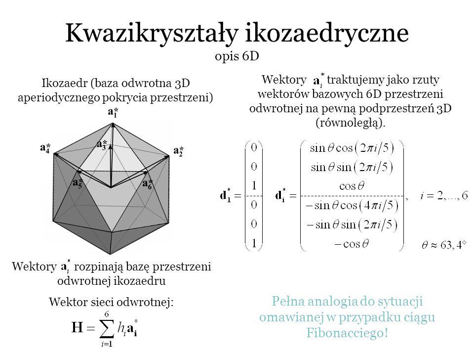 Kwazikryształy ikozaedryczne opis 6D