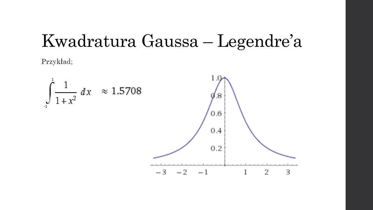 Kwadratura Gaussa – Legendre'a