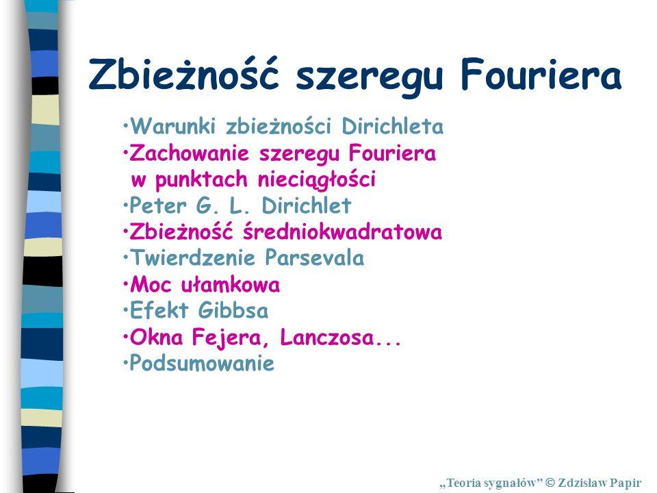 Zbieżność szeregu Fouriera