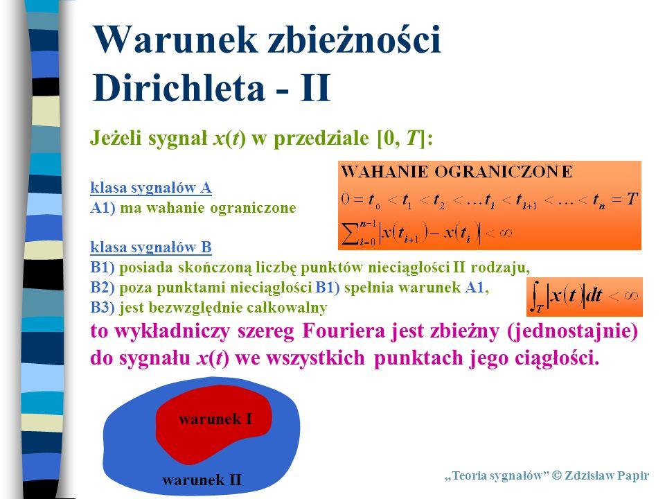 Warunek zbieżności Dirichleta - II