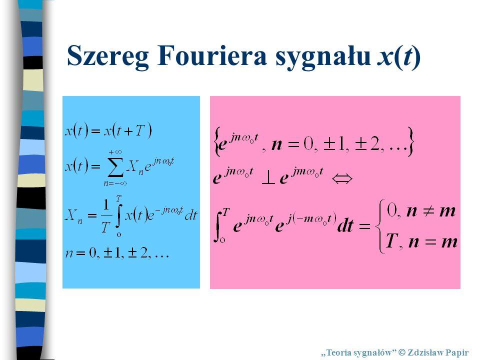 Szereg Fouriera sygnału x(t)