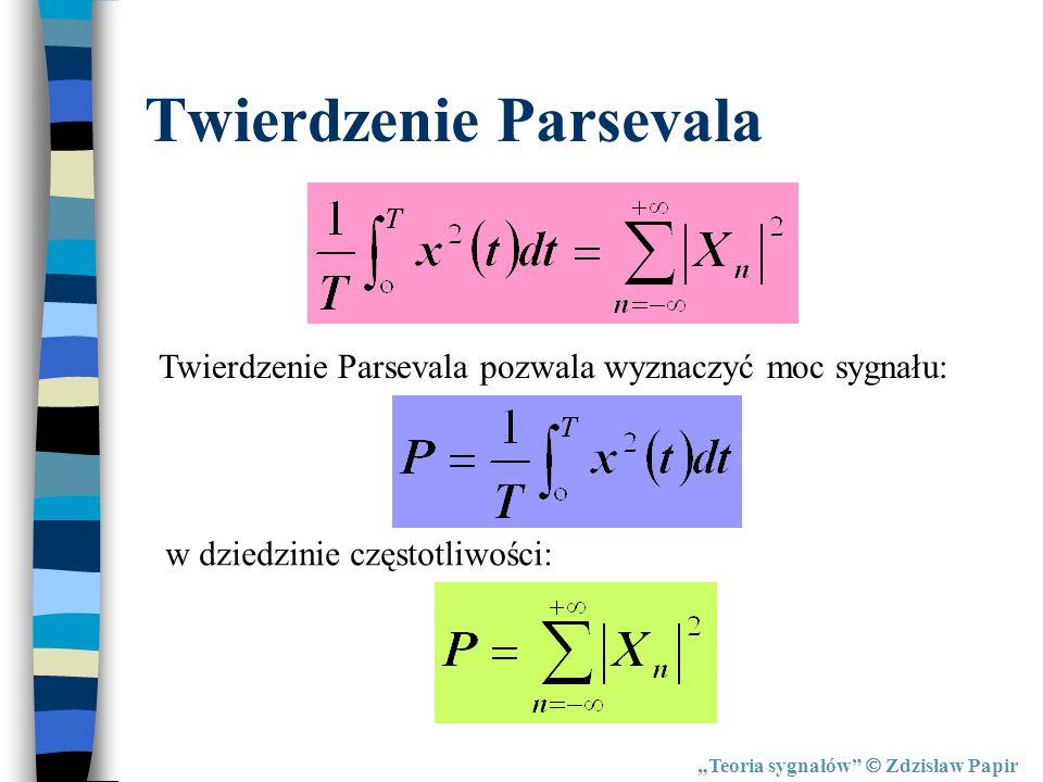 Twierdzenie Parsevala