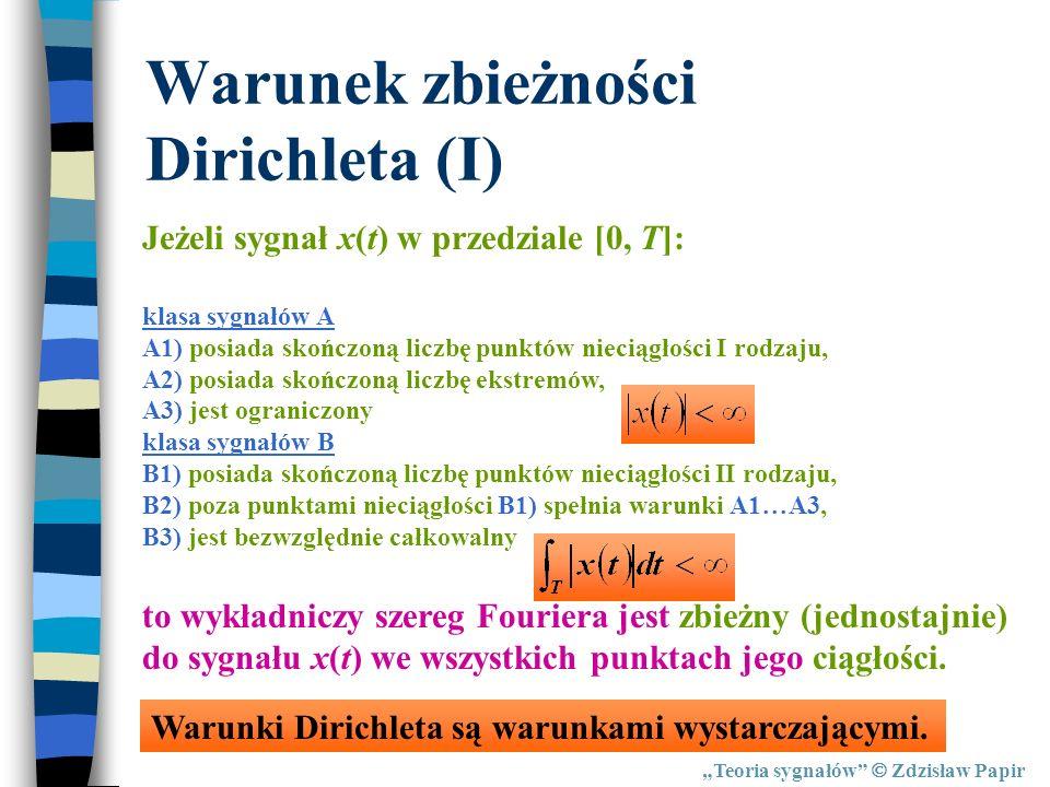 Warunek zbieżności Dirichleta (I)