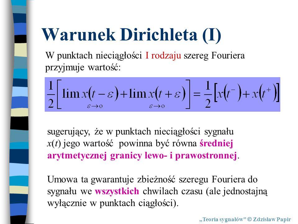 Warunek Dirichleta (I)