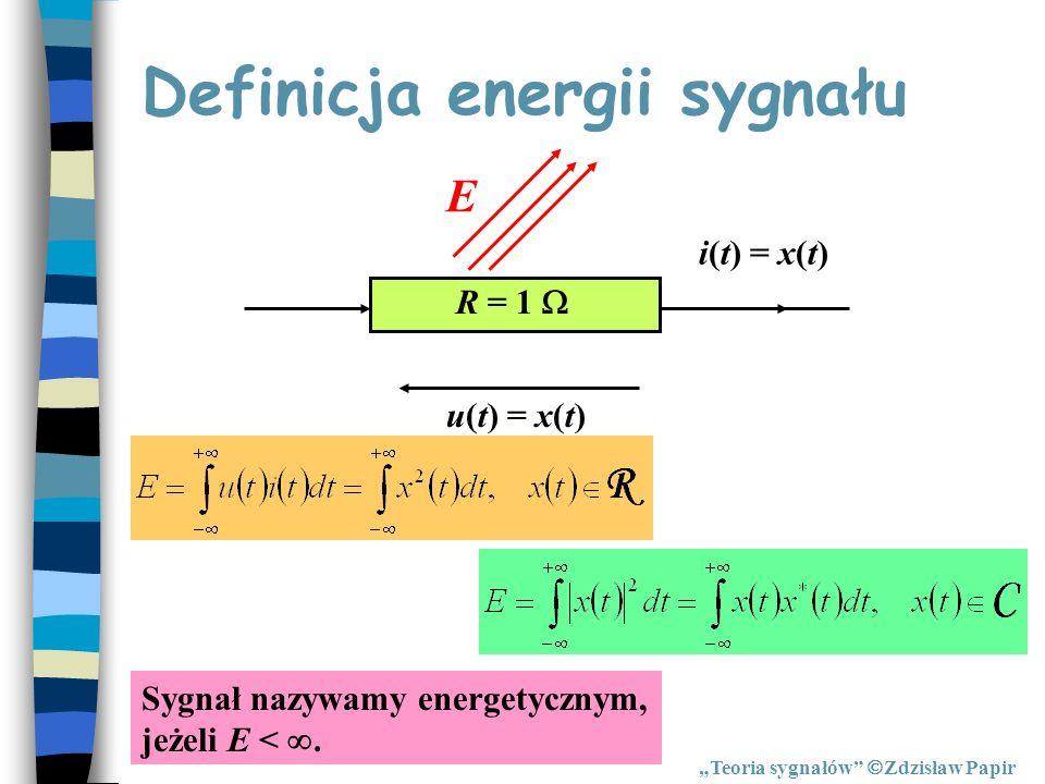 Definicja energii sygnału