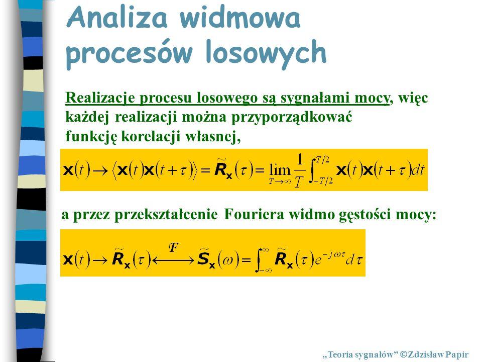 Analiza widmowa procesów losowych