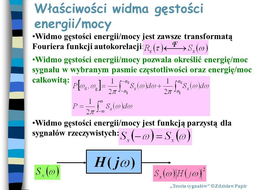 Właściwości widma gęstości energii/mocy