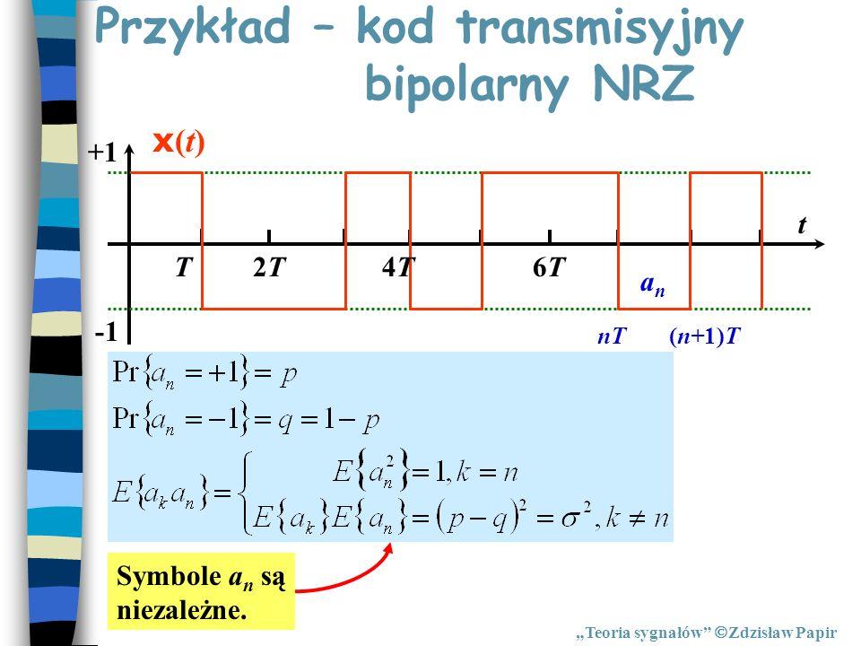Przykład – kod transmisyjny bipolarny NRZ