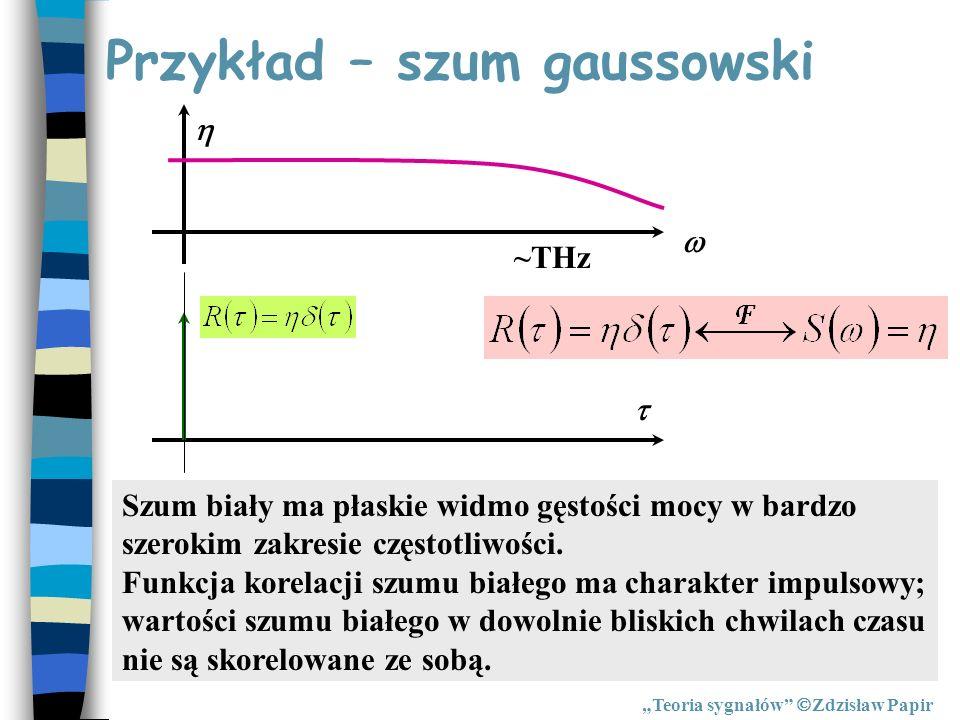 Przykład – szum gaussowski