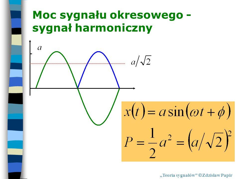 Moc sygnału okresowego - sygnał harmoniczny