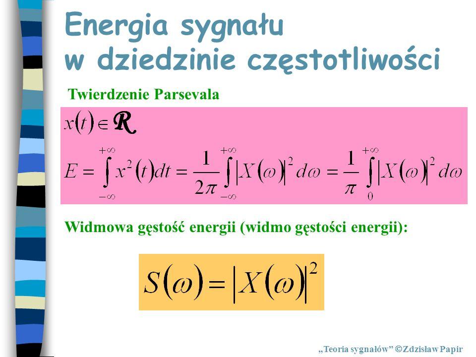 Energia sygnału w dziedzinie częstotliwości