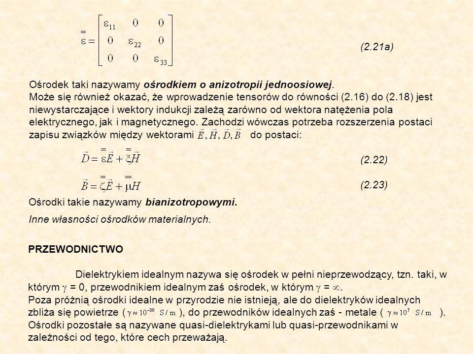(2.21a) Ośrodek taki nazywamy ośrodkiem o anizotropii jednoosiowej.