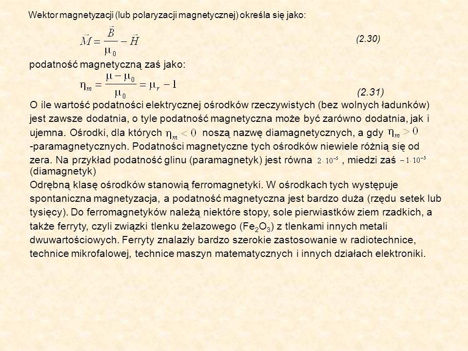 podatność magnetyczną zaś jako: (2.31)