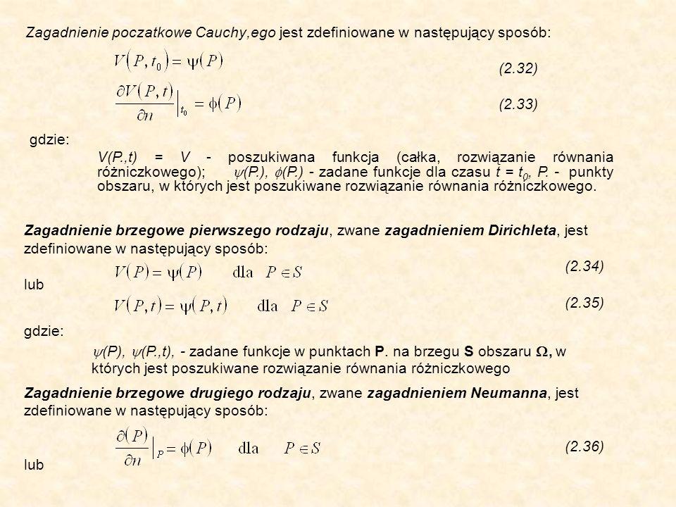 Zagadnienie poczatkowe Cauchy,ego jest zdefiniowane w następujący sposób:
