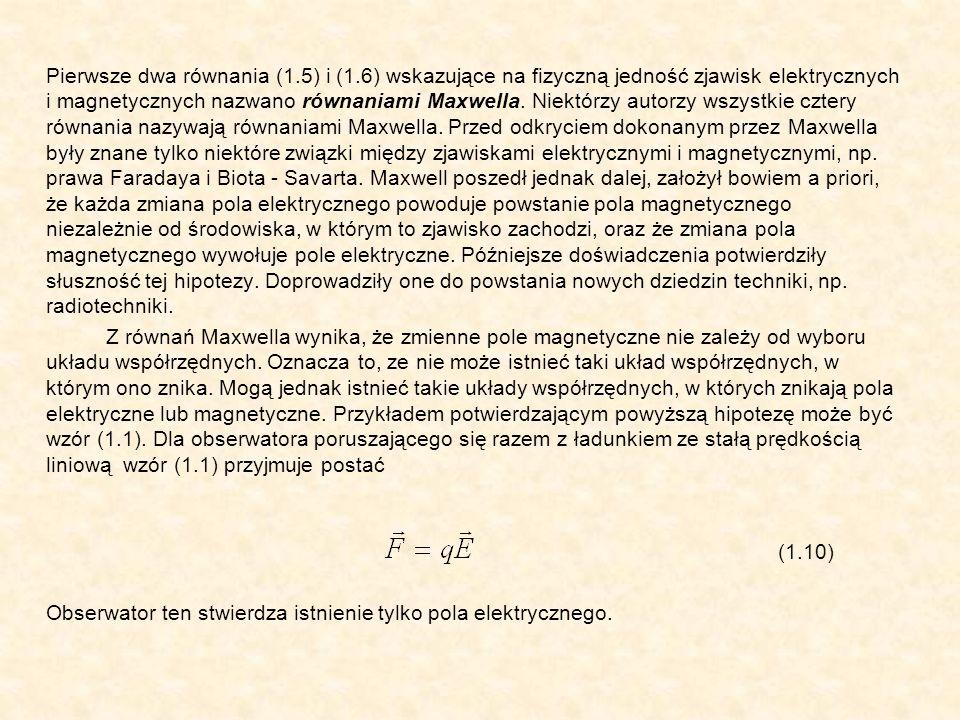 Pierwsze dwa równania (1. 5) i (1
