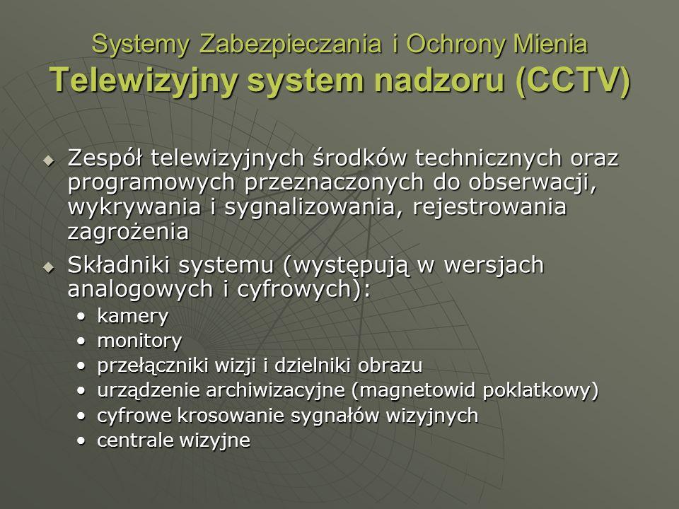 Systemy Zabezpieczania i Ochrony Mienia Telewizyjny system nadzoru (CCTV)