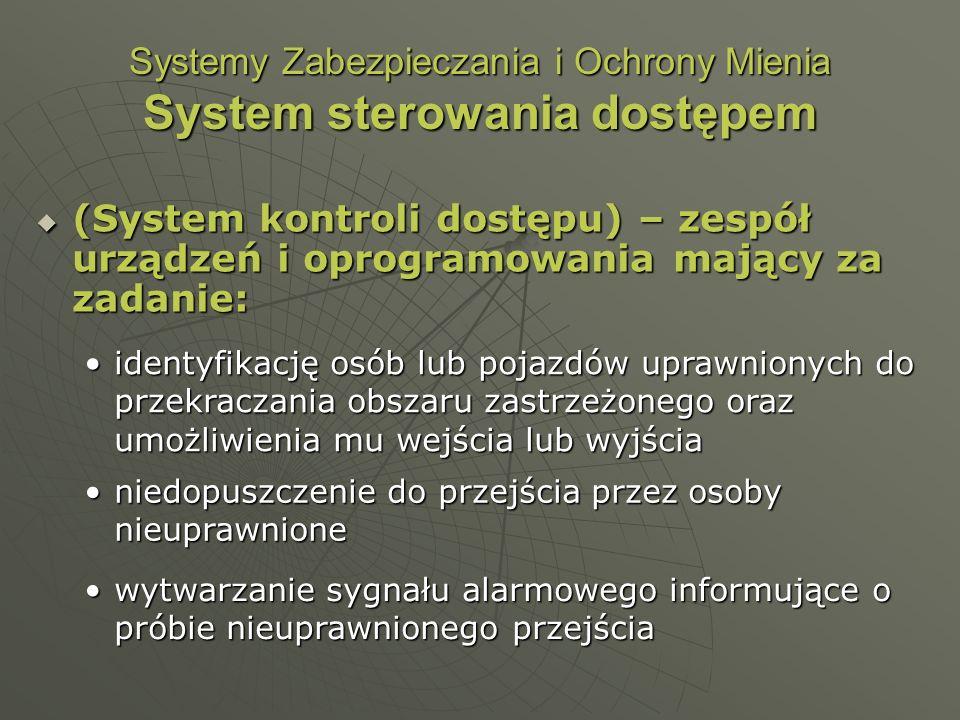 Systemy Zabezpieczania i Ochrony Mienia System sterowania dostępem