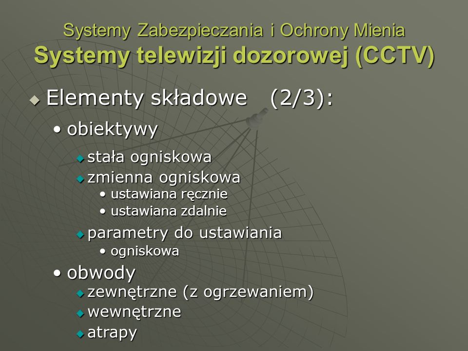 Elementy składowe (2/3):