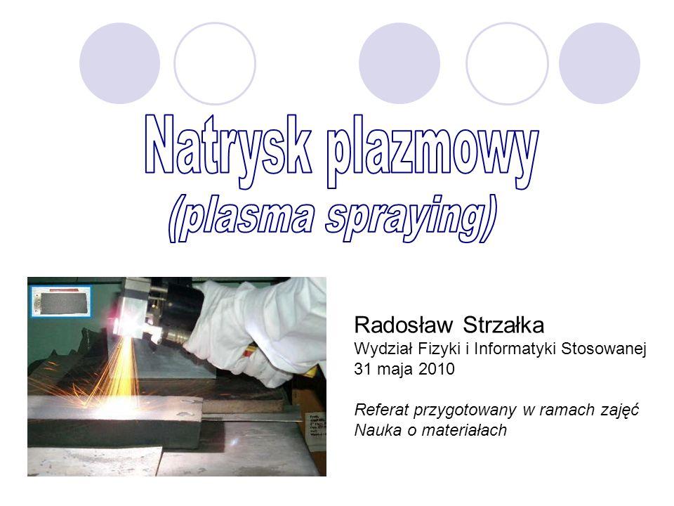 Natrysk plazmowy (plasma spraying) Radosław Strzałka