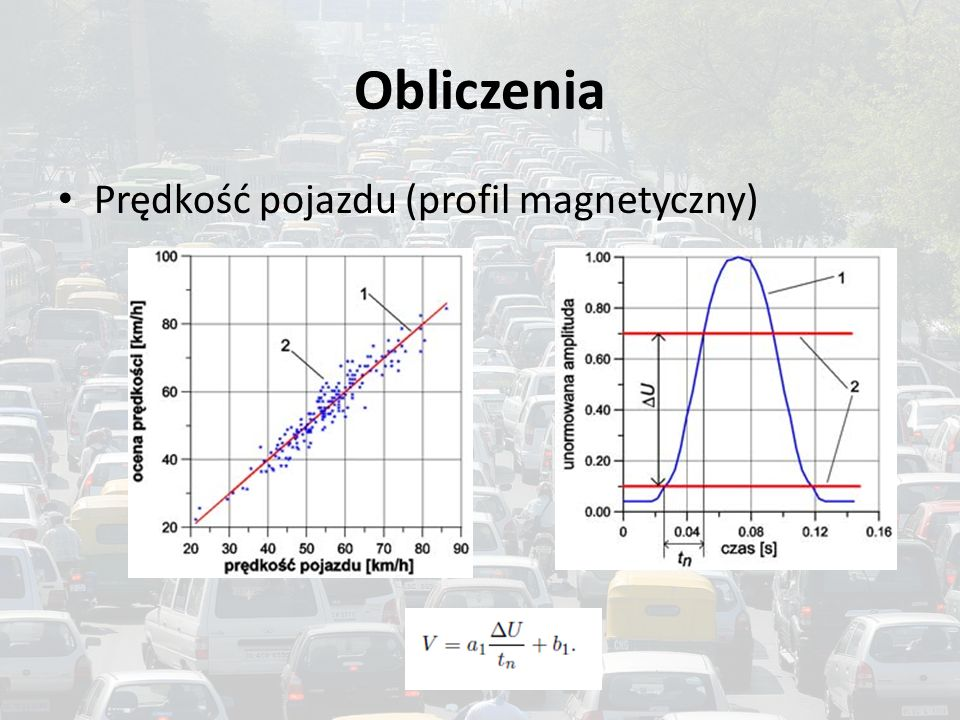 Obliczenia Prędkość pojazdu (profil magnetyczny)