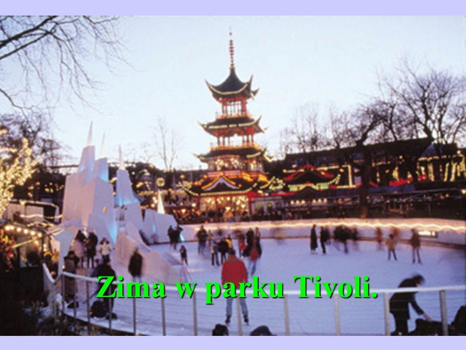 Zima w parku Tivoli.
