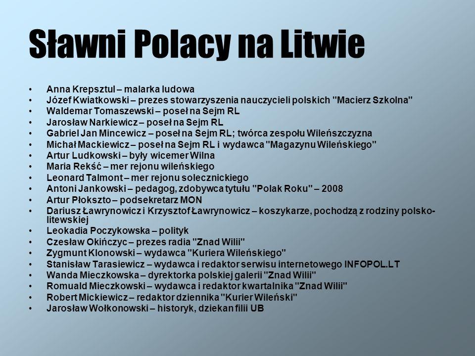 Sławni Polacy na Litwie