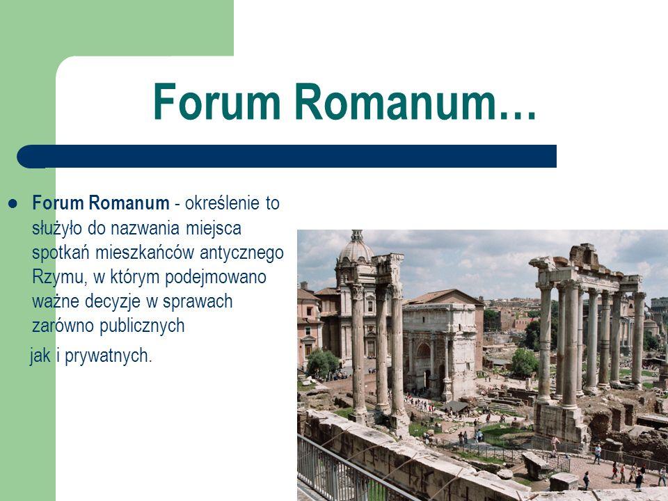 Forum Romanum…