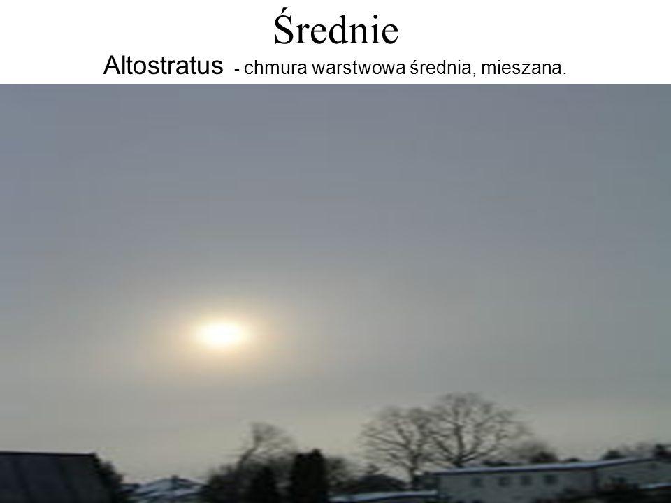 Altostratus - chmura warstwowa średnia, mieszana.