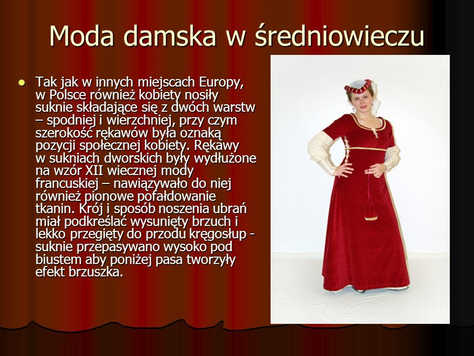 Moda damska w średniowieczu