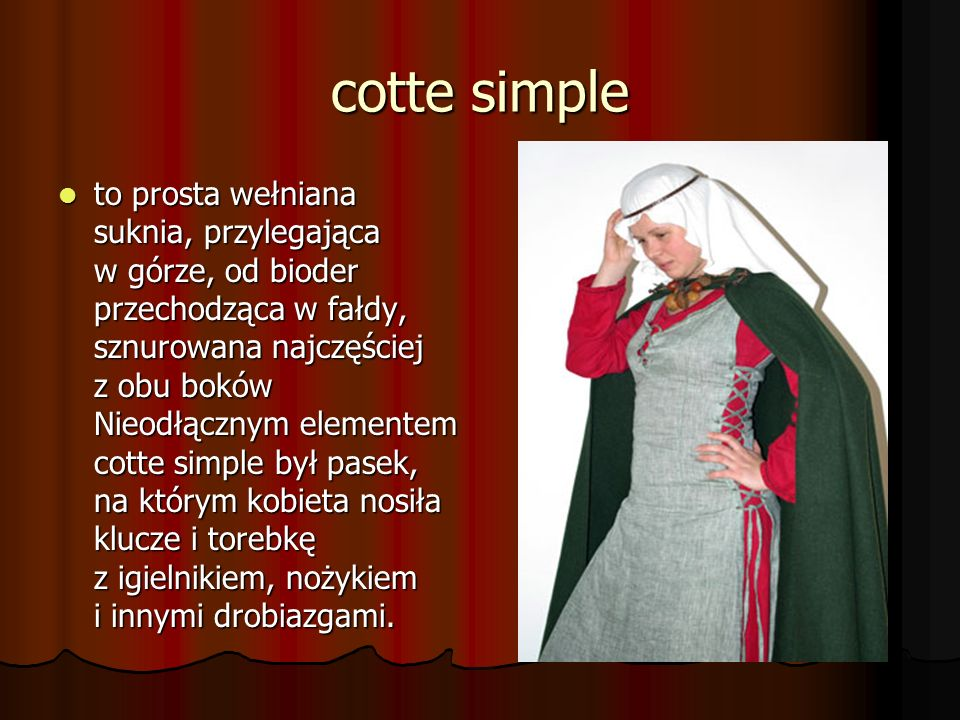 cotte simple