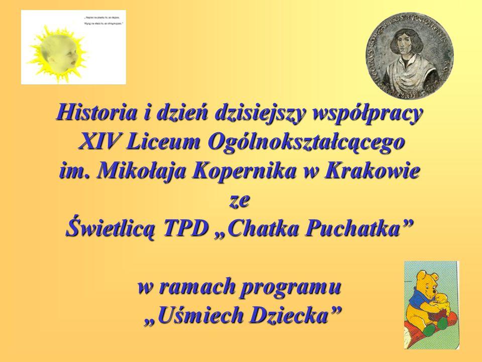 Historia i dzień dzisiejszy współpracy XIV Liceum Ogólnokształcącego