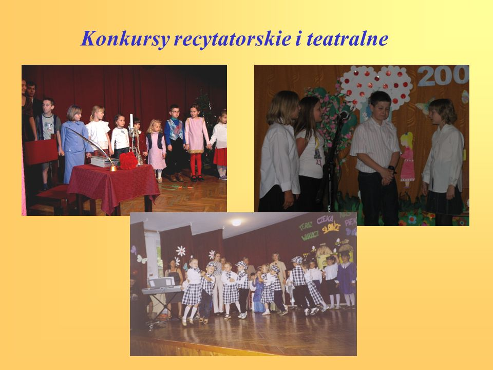 Konkursy recytatorskie i teatralne