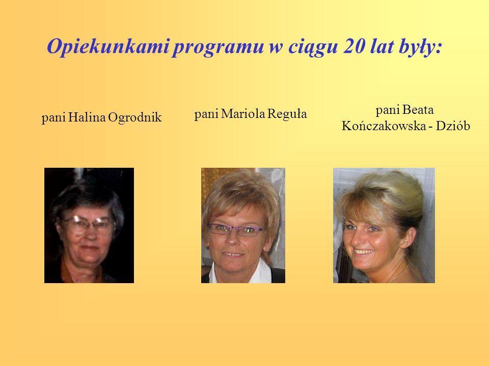Opiekunkami programu w ciągu 20 lat były: