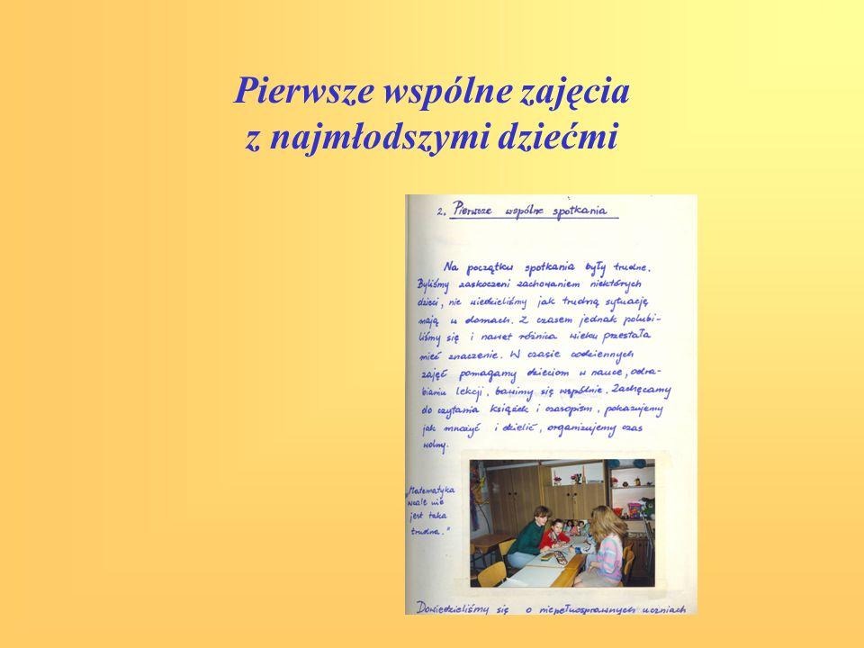 Pierwsze wspólne zajęcia z najmłodszymi dziećmi