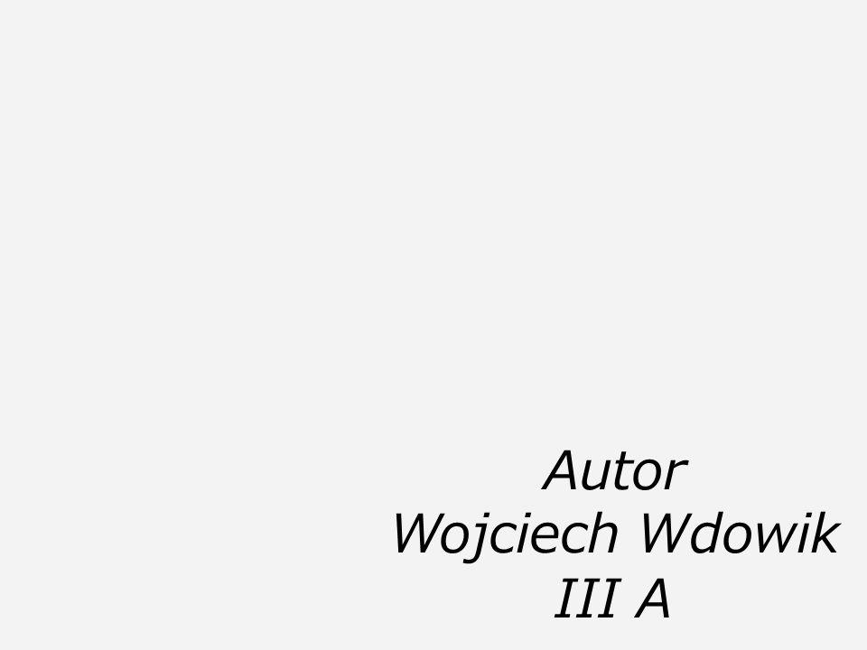 Autor Wojciech Wdowik III A