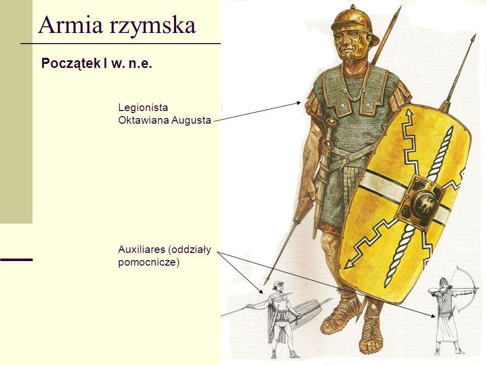 Armia rzymska Początek I w. n.e. Legionista Oktawiana Augusta