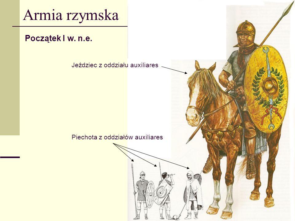 Armia rzymska Początek I w. n.e. Jeździec z oddziału auxiliares
