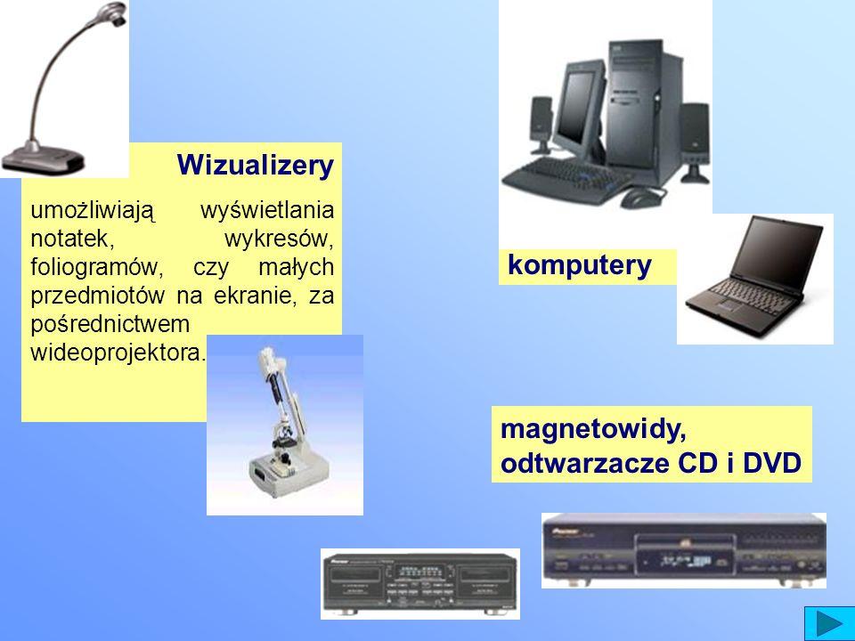 magnetowidy, odtwarzacze CD i DVD