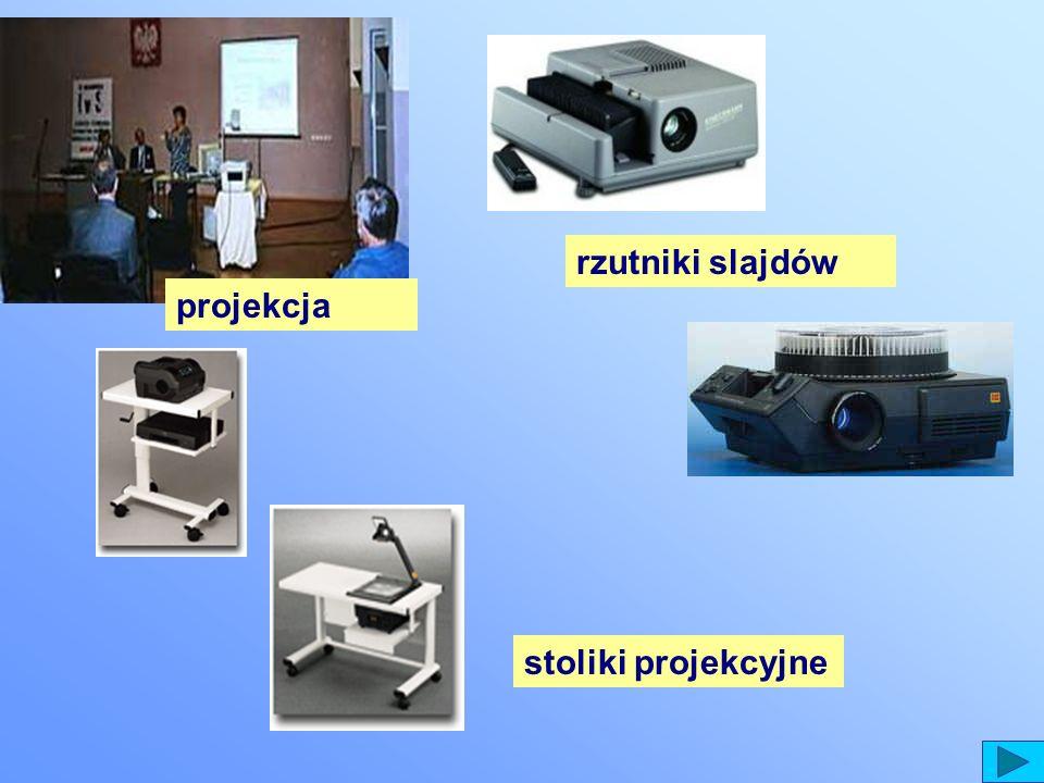 rzutniki slajdów projekcja stoliki projekcyjne